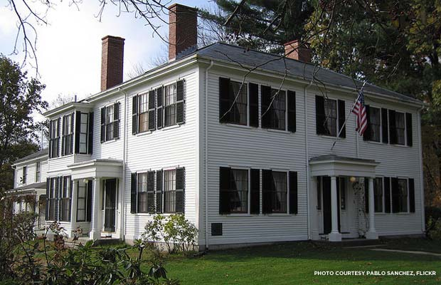 Ralph Waldo Emerson's Concord home, one of the sites on the Daniel Chester French trail. Credit: Pablo Sanchez, Flickr