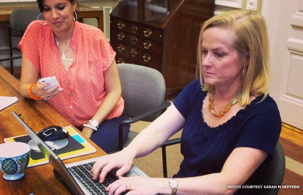 Stephanie Meeks (right) answering questions on Twitter during June's 11 Most Endangered chat.