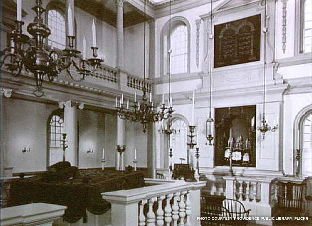 The synagogue underwent a $3.5 million restoration in 2005-06. Credit: Providence Public Library, Flickr