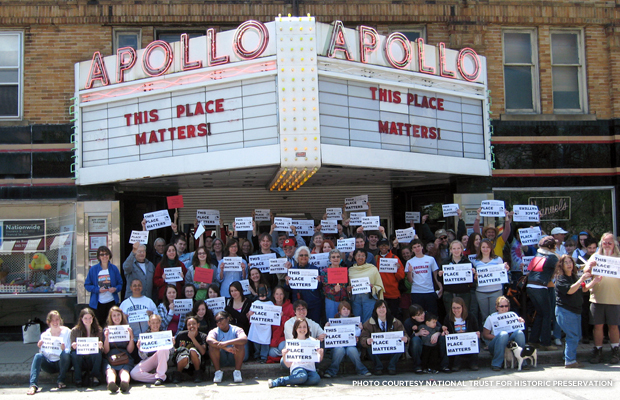 Apollo Theater, Oberlin, Ohio. Credit: National Trust for Historic Preservation