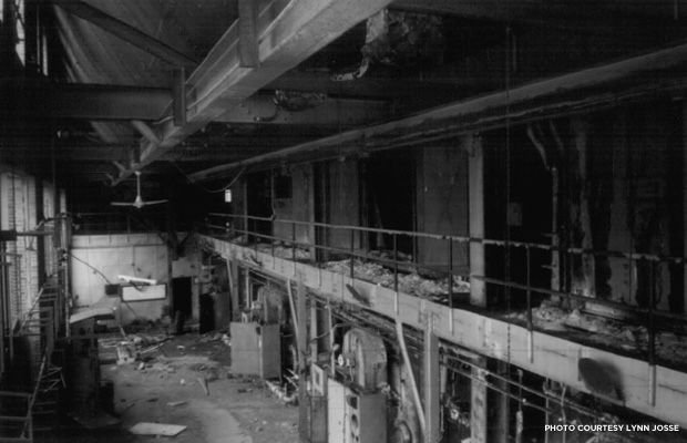 The interior of the Power Plant in 2000. Credit: Lynn Josse for the City Hospital Historic District National Register of Historic Places nomination.