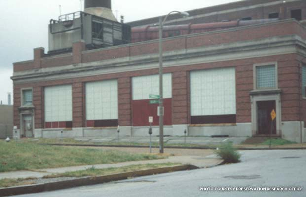 The Power Plant sits vacant in 1992. Credit: Preservation Research Office