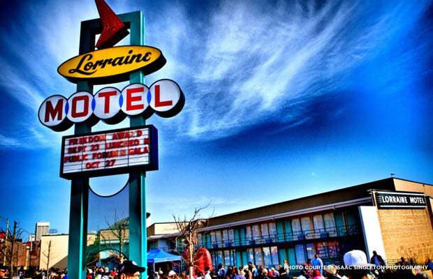 At the National Civil Rights Museum in Memphis, Tenn., visitors can tour the Lorraine Hotel, where Dr. Martin Luther King, Jr., was killed. Credit: Isaac Singleton Photography, flickr