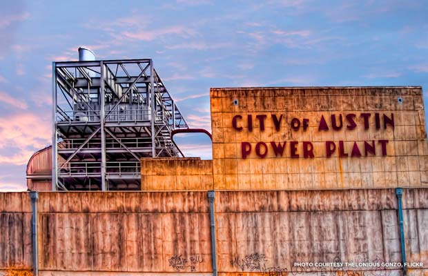 Seaholm Power Plant in Austin, Texas. Credit: Thelonious Gonzo, flickr