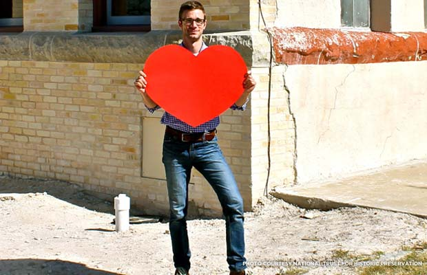 Jason Clement wears his heart on his sleeve. Credit: National Trust for Historic Preservation