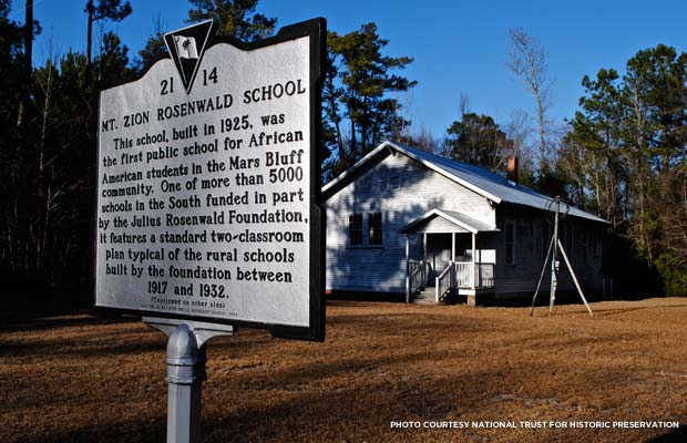 Mt. Zion Rosenwald School. Credit: National Trust for Historic Preservation/Clement