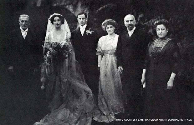 Alice and Samuel Lilienthal's wedding. Courtesy San Francisco Architectural Heritage