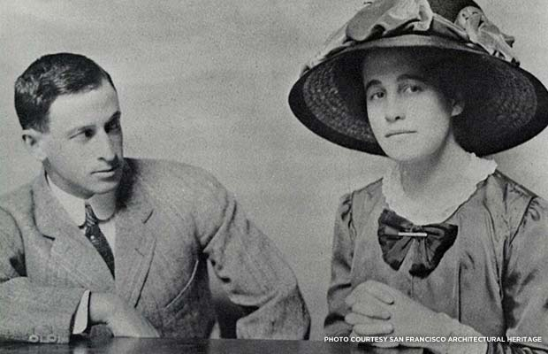 Samuel Lilienthal and Alice Haas' engagement photo. Courtesy San Francisco Architectural Heritage
