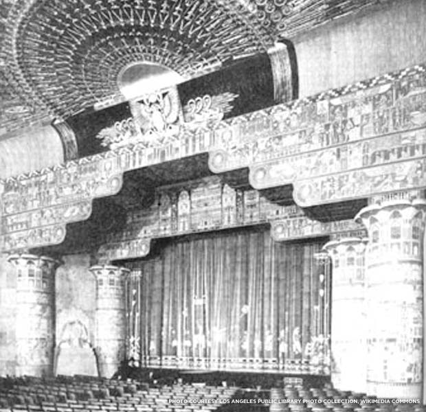 Egyptian Theater interior, 1922. Credit: Marc Wanamaker, Wikimedia Commons