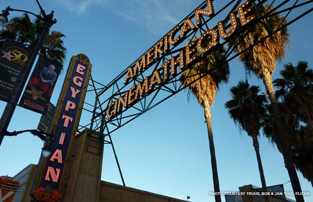 Egyptian Theater sign. Credit: Truus, Bob & Jan too!, flickr