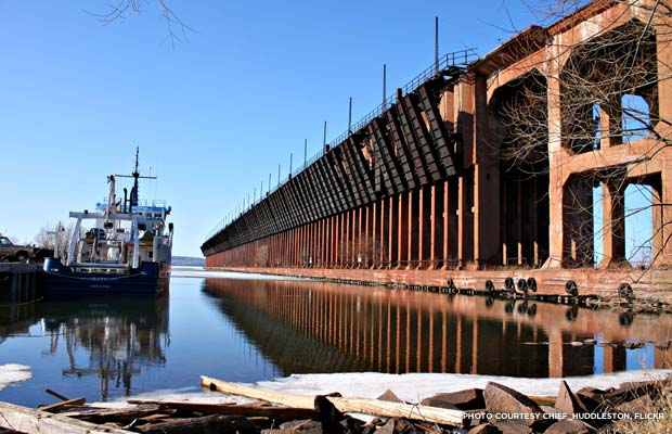 The Soo Line ore dock in 2009. Credit: chief_huddleston, flickr