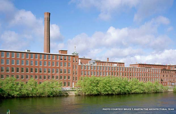 Boott Mills, restored. Credit: Bruce T. Martin/The Architectural Team