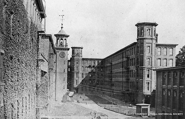 Boott Mills during the industrial era. Credit: Lowell Historical Society