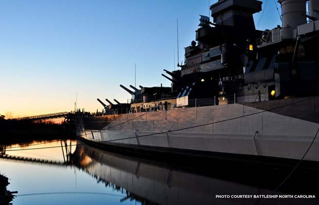 Reflection. Credit: Battleship North Carolina