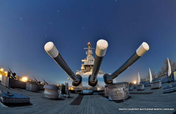 Guns. Credit: Battleship North Carolina