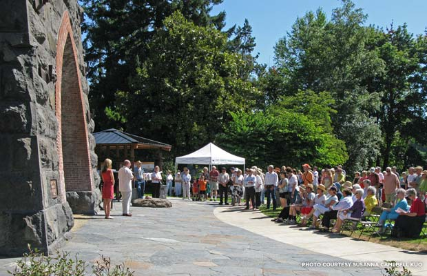Community celebration marking the completion of the Oswego Iron Furnace restoration. Credit: Susanna Campbell Kuo