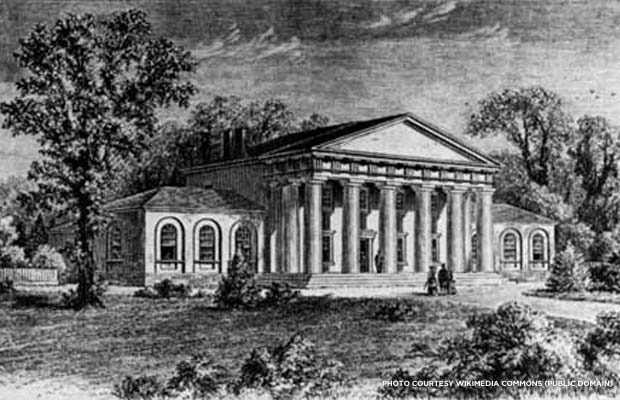 Arlington House in a sketch made before 1861. Credit: Wikimedia Commons (public domain)