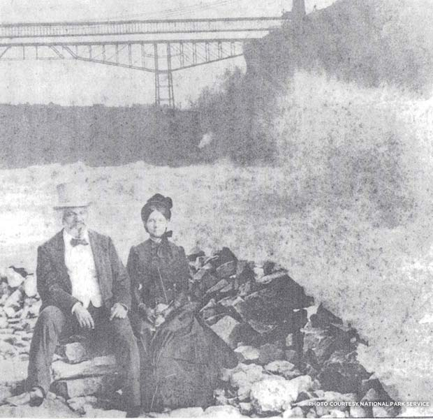 Frederick and Helen Pitts Douglass at Niagara Falls. Credit: National Park Service