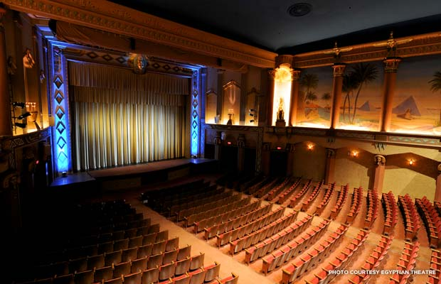 Restored interior of Dekalb's Egyptian Theatre. Credit: Egyptian Theatre