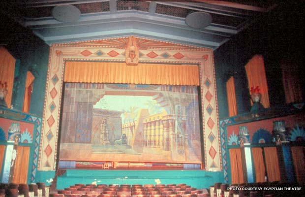 Dekalb Egyptian Theatre interior in 1978. Credit: Egyptian Theatre