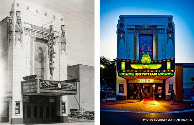 Dekalb's Egyptian Theatre in 1938 and restored. Credit: Egyptian Theatre