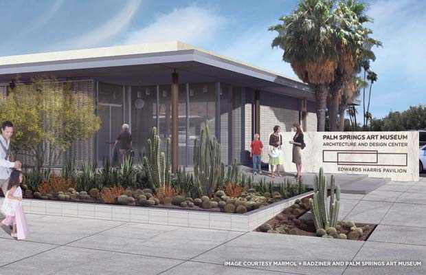 A rendering of the Palm Springs Art Museum Architecture and Design Center, Edwards Harris Pavilion. The museum is tentatively scheduled to open the fall of 2014. Credit: Courtesy Marmol+Radziner and Palm Springs Art Museum