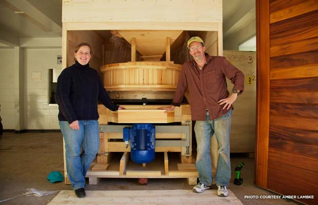 Lambke and her business partner, Michael Scholz, bought a 5,000-square-foot jail building in 2009 and turned it into a grist mill. Credit: Amber Lambke