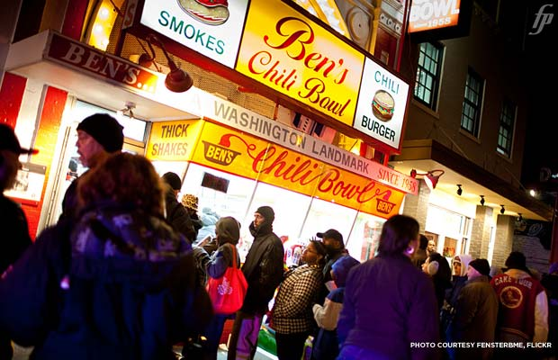 Ben's Chili Bowl, Washington DC. Credit: fensterbme, flickr