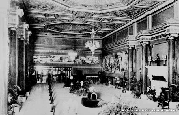 The Grand Lobby of the State Theater as it appeared in the 1920s. Credit: PlayhouseSquare Archives