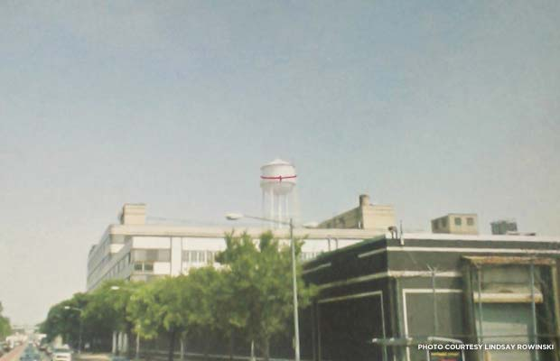 Artist's rendering of hugging the old Hecht's water tower. Credit: Lindsay Rowinski