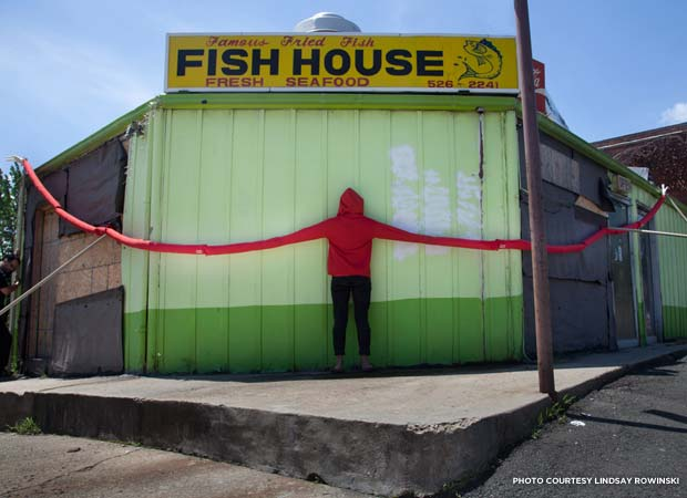 Fish House hug. Credit: Lindsay Rowinski