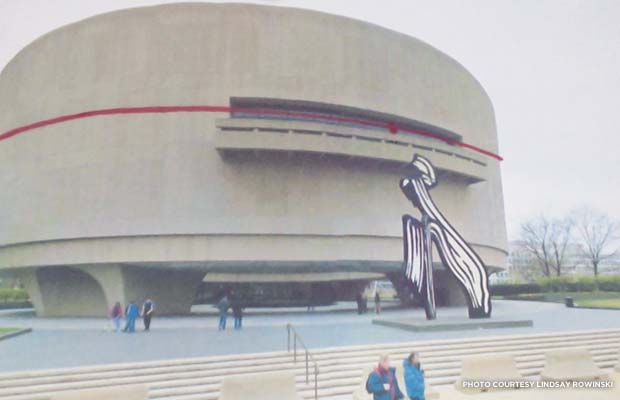 Artist's rendering of hugging the Hirshhorn Museum. Credit: Lindsay Rowinski