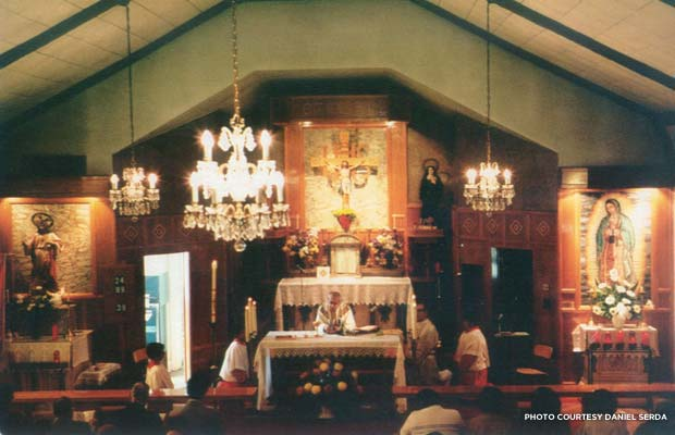 View from the choir loft of a Mass in progress, c. 1980s. Credit: Daniel Serda