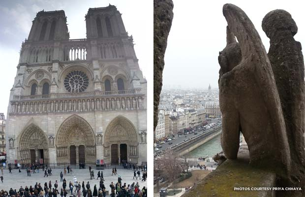 Cathedral of Notre Dame in Paris; gargoyle. Credit: Priya Chhaya
