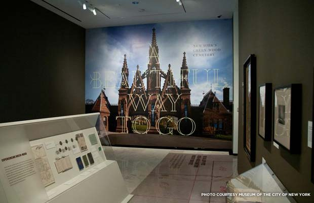 "An exhibit at the Museum of the City of New York titled ""A Beautiful Way To Go"" commemorates Green-Wood Cemetery's 175th anniversary. Credit: Museum of the City of New York"