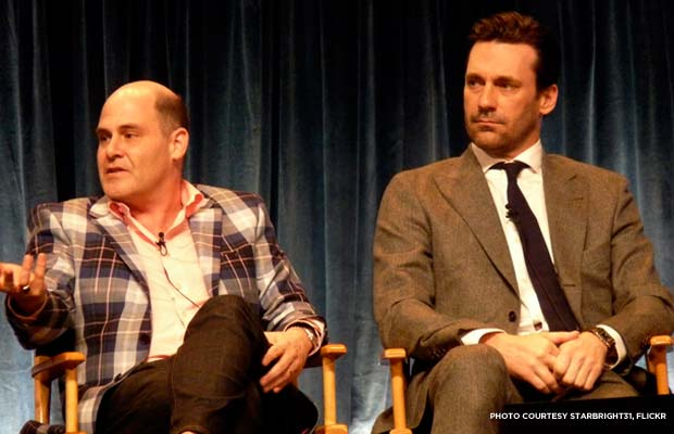 Matthew Weiner and Jon Hamm at Paleyfest in 2012. Credit: starbright31, Flickr.