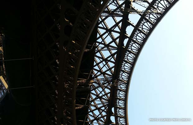 Paris' Eiffel Tower up close. Credit: Priya Chhaya