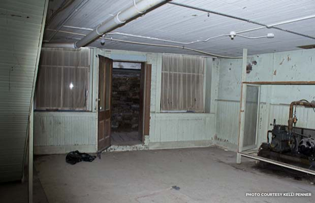 Underground tunnels and empty shops under the Wolf Hotel. Credit: Kelli Penner