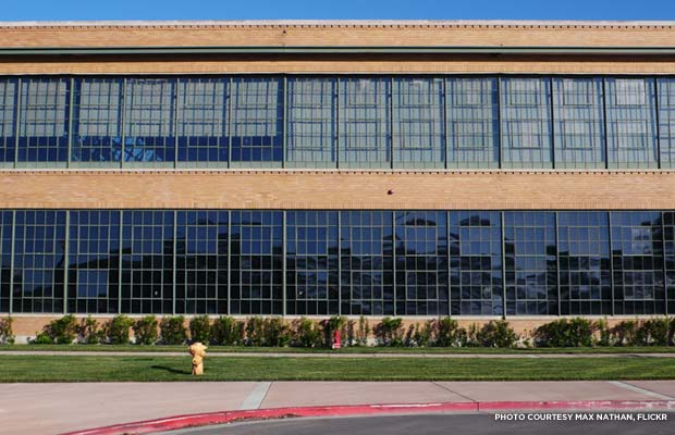 This former Ford Motor Company plant is now a SunPower Corporation facility in Richmond, Calif. Credit: Max Nathan, Flickr