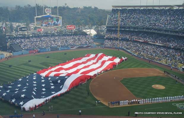 Opening Day at Dodger Stadium, 2013. Credit: Steve Devol, Flickr