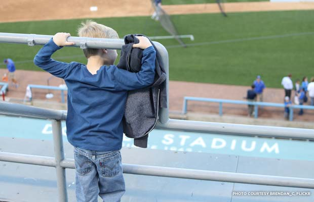 A young fan enjoys the stadium. Credit: brendan_c, Flickr