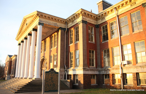 East Hall, the first building completed in Western Michigan University's East Campus. Credit: Roger Parzyck.