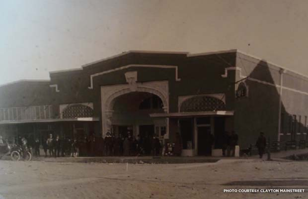 The Luna Theater facade in 1916. Credit: Clayton MainStreet
