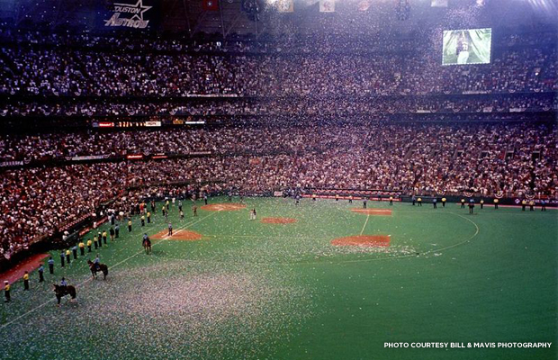 The last Astros game in the Astrodome in 1999. Credit: Bill & Mavis Photography.