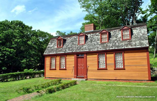 Abigail Adams' birthplace in North Weymouth, Massachusetts, after restoration. Credit: Michelle McGrath