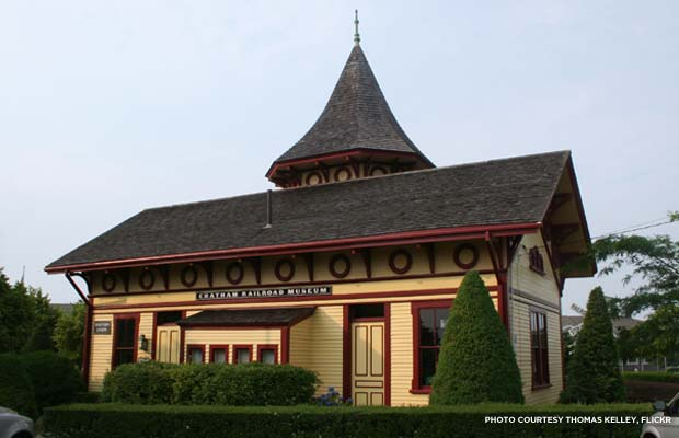 The Chatham Railroad Museum in Massachusetts was built in 1887 in the Railroad Gothic style. Credit: Thomas Kelley, Flickr