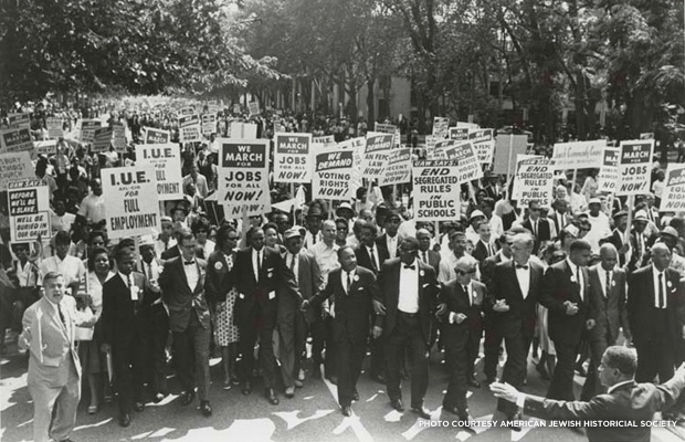 The March on Washington in 1963. Credit: American Jewish Historical Society.