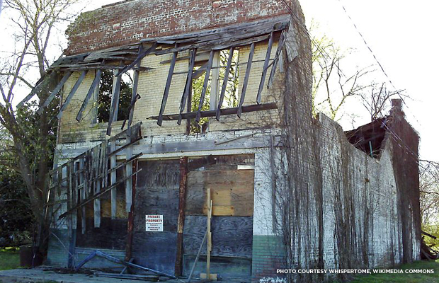 Bryant's Grocery, the store Emmett Till visited. Credit: whispertome, Wikimedia Commons.