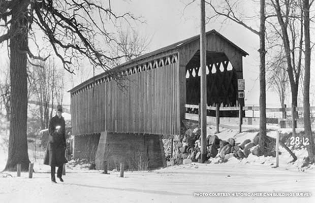 Historic bridge in Cedarburg, Wisconsin. Credit: Historic American Buildings Survey