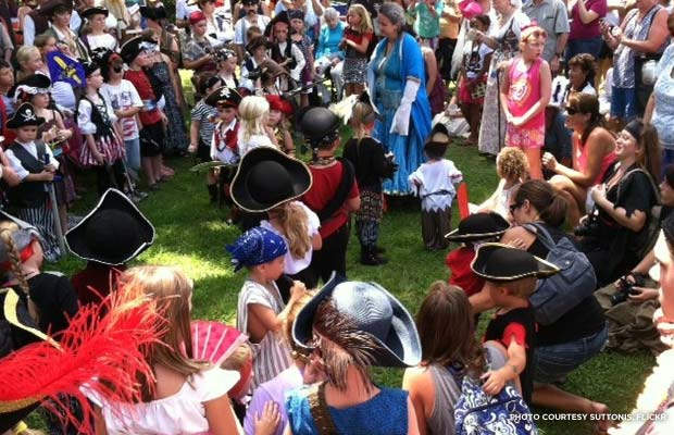 A kids costume contest at Beaufort Historic Site during the 2013 Pirate Invasion. Credit: SuttonIs, Flickr.